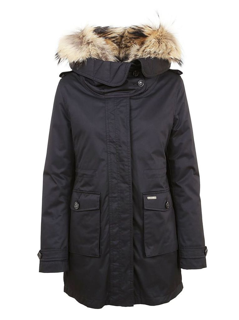 Woolrich Black Technical Fabric Padded Jacket