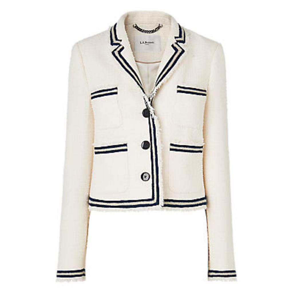 L.K.Bennett Susanna Cream Cotton Jacket, Cream
