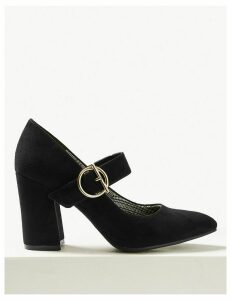 M&S Collection Block Heels Court Shoes