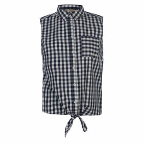 SoulCal Tie Blouse Ladies - Navy Check