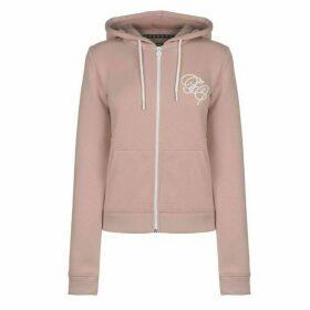 Fabric Embroidered Zip Hoodie
