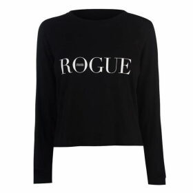 Swallows and Daggers Rogue Crop Long Sleeve T Shirt - Black