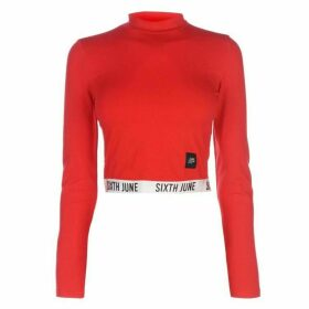 Sixth June Long Sleeve Band T Shirt - Red/White
