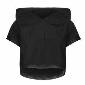 Calvin Klein Intense Crop Hoodie - Black