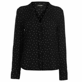 Firetrap Blackseal Dot Blouse - Black