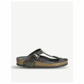 Gizeh metallic sandals