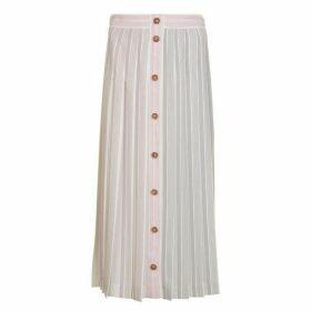 Victoria Beckham Stripe Pleated Midi Skirt