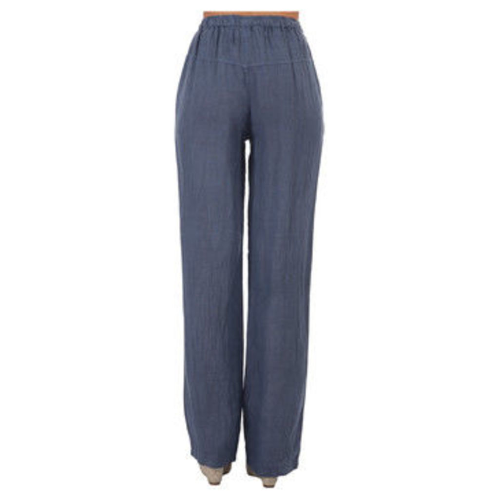 Lin Nature  Trousers LINETTE Indigo blue Woman Spring/Summer Collection  women's Trousers in Blue