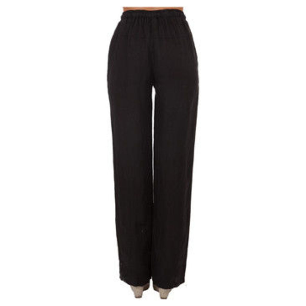 Lin Nature  Trousers LINETTE Black Woman Spring/Summer Collection  women's Trousers in Black