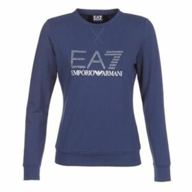 Emporio Armani EA7  TRAIN LOGO SERIES STRASS 3ZTM84  women's Sweatshirt in Blue