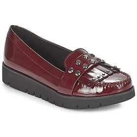 Geox  D BLENDA  women's Loafers / Casual Shoes in Red