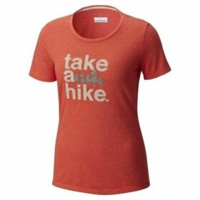 Columbia  Outdoor  Zing  women's T shirt in Orange
