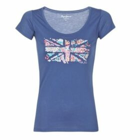 Pepe jeans  CARA  women's T shirt in Blue