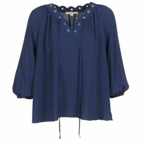 MICHAEL Michael Kors  SCALLP GRMT CHAIN TOP  women's Blouse in Blue