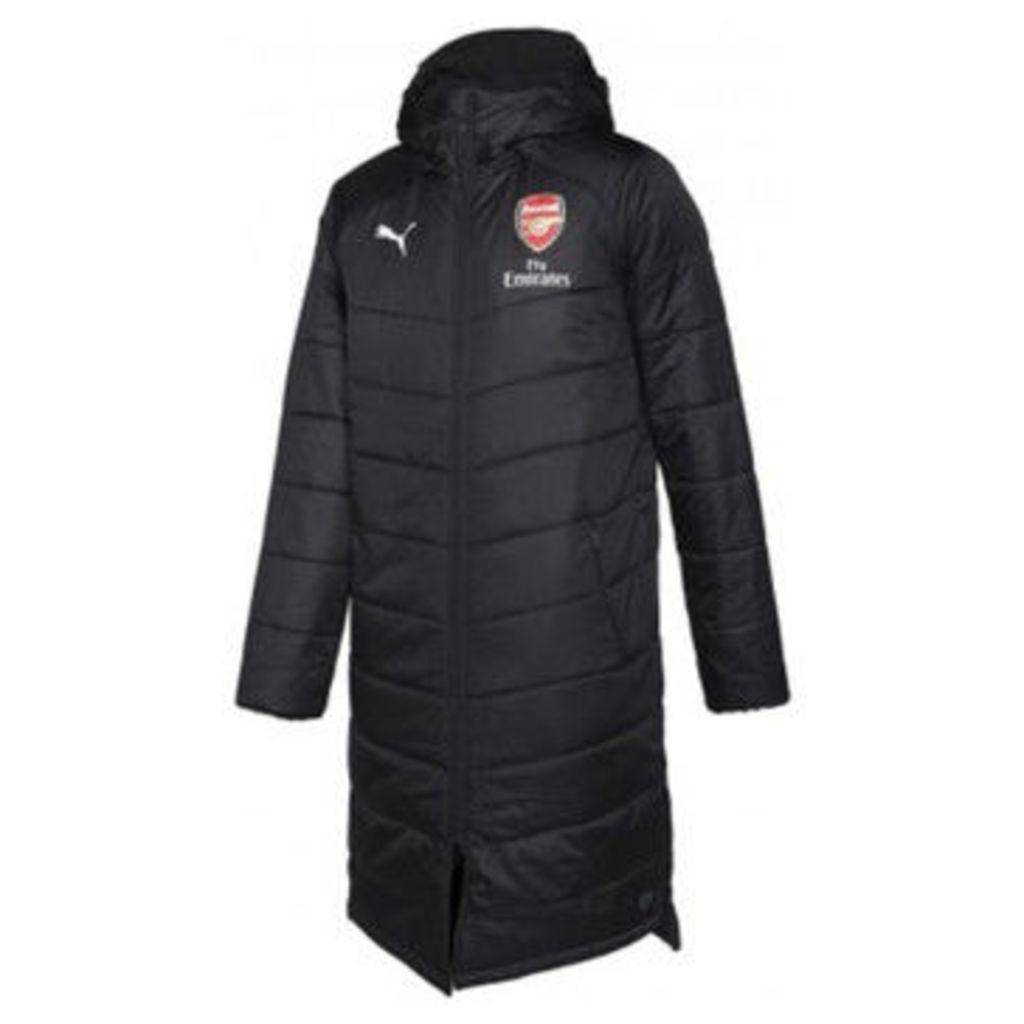 Puma  2018-2019 Arsenal Long Bench Jacket  women's Jacket in Black