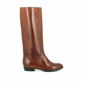 1137 Flat Leather Boots