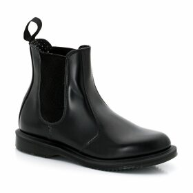 Flora Leather Ankle Chelsea Boots