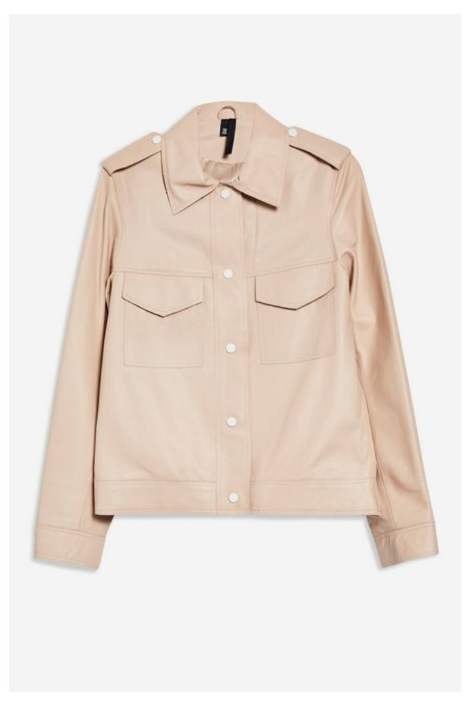 Womens **Leather Western Jacket by Boutique - Peach, Peach