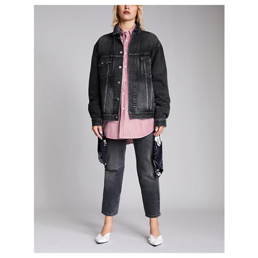 Balenciaga Ladies Grey Like A Man Denim Jacket, Size: 10