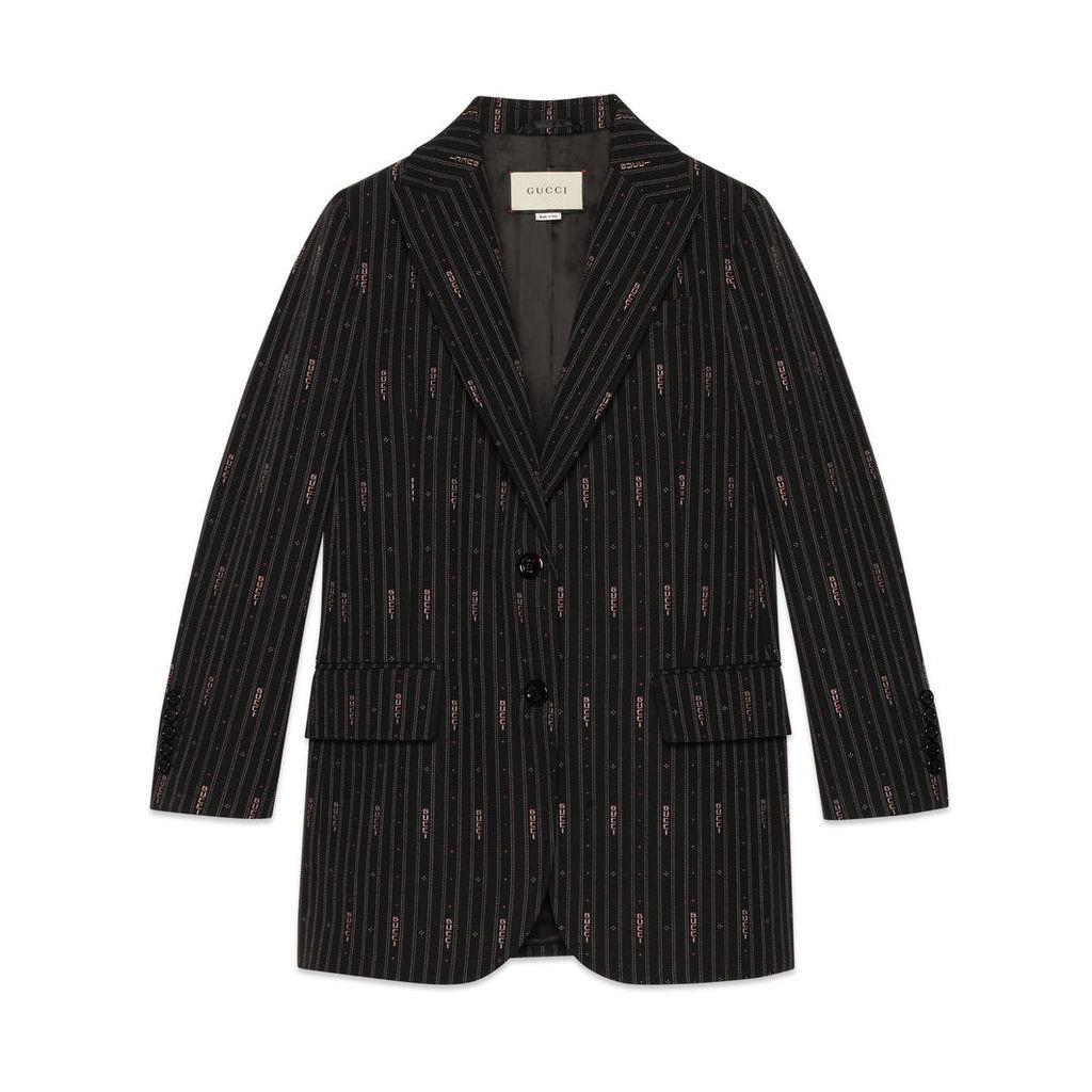 Gucci stripe fil coup wool jacket