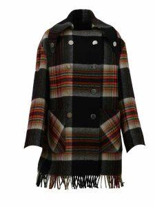 Calvin Klein Fringed Wool Coat