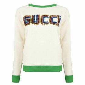 Gucci Patch Long Sleeve Sweatshirt