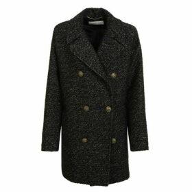 Saint Laurent Metallic Wool Coat