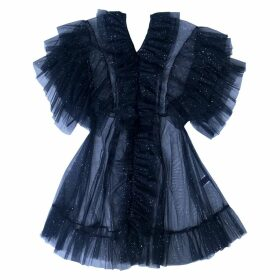 SUPERSWEET x moumi - Tulle Babydoll In Midnight Blue