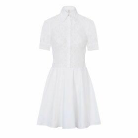 Rumour London - Venice Satin Cotton Belted Flared Dress