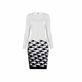 Rumour London - Sea & Sky Ivory Knitted Jacquard Dress