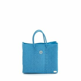 MUZA - Blue Ruffle Button Down Shirt