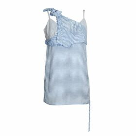 K M by L A N G E - Striped Blue Deconstructed Top
