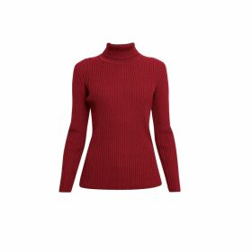 Rumour London - Mia Red Ribbed Turtleneck Sweater