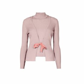 Rumour London - Erika and Erin Powder Pink Two-Piece Merino Wool Set