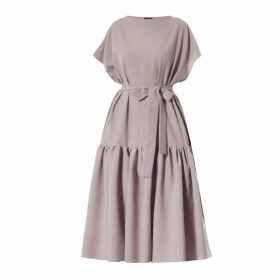 Rumour London - Lulu Tie-Back Cotton & Modal Jumper with Metallic Stripe