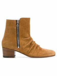 AMIRI skinny stack boots - Brown