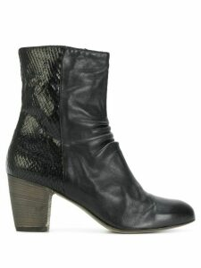 Ink zipped ankle boots - NERO