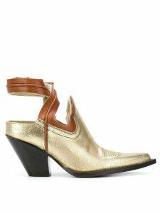 Maison Margiela cut-out cowboy boots - Metallic