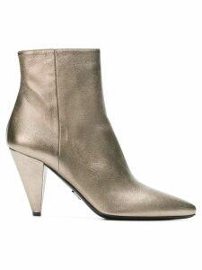 Prada pointed-toe ankle boots - Metallic