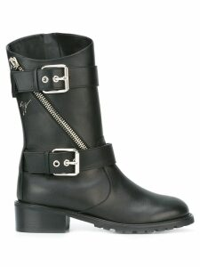 Giuseppe Zanotti buckle strap mid-calf boots - Black