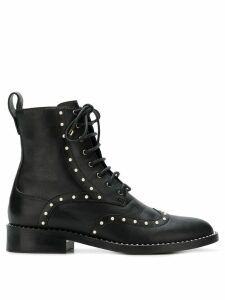 Jimmy Choo Hanah pearl embellished boots - Black