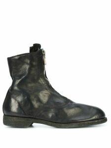 Guidi zip-detail boots - Black