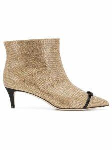 Marco De Vincenzo bow detailed boots - Metallic