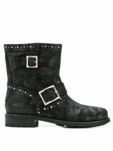 Jimmy Choo star embellished boots - Black