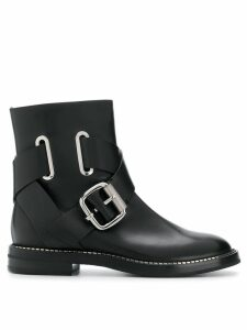 Casadei buckled cross-strap ankle boots - Black