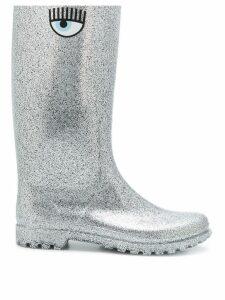 Chiara Ferragni glitter wellington boots - Grey