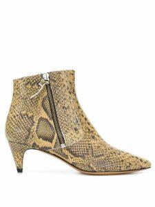 Isabel Marant snake printed kitten heel boot - NEUTRALS