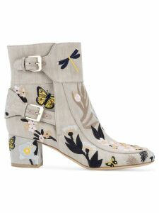 Laurence Dacade Babacar embroidered boots - Neutrals