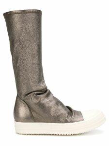 Rick Owens metallic mid calf boots