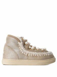 Mou embellished eskimo boots - Metallic